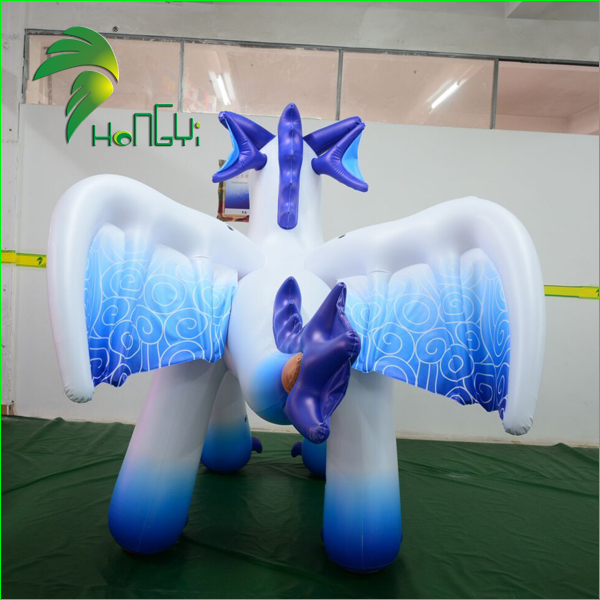 Hongyi Inflatable Cloud dragon, Inflatable Standing Dragon Rider Models, PVC Inflatable Animal Toy