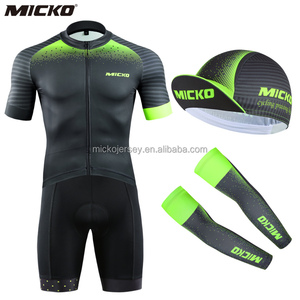 Micko Factory Custom Cycling Wear Mountain Bike Clothes Offered Design for Bicycle Caps Arm Warmer Short Jersey Wear