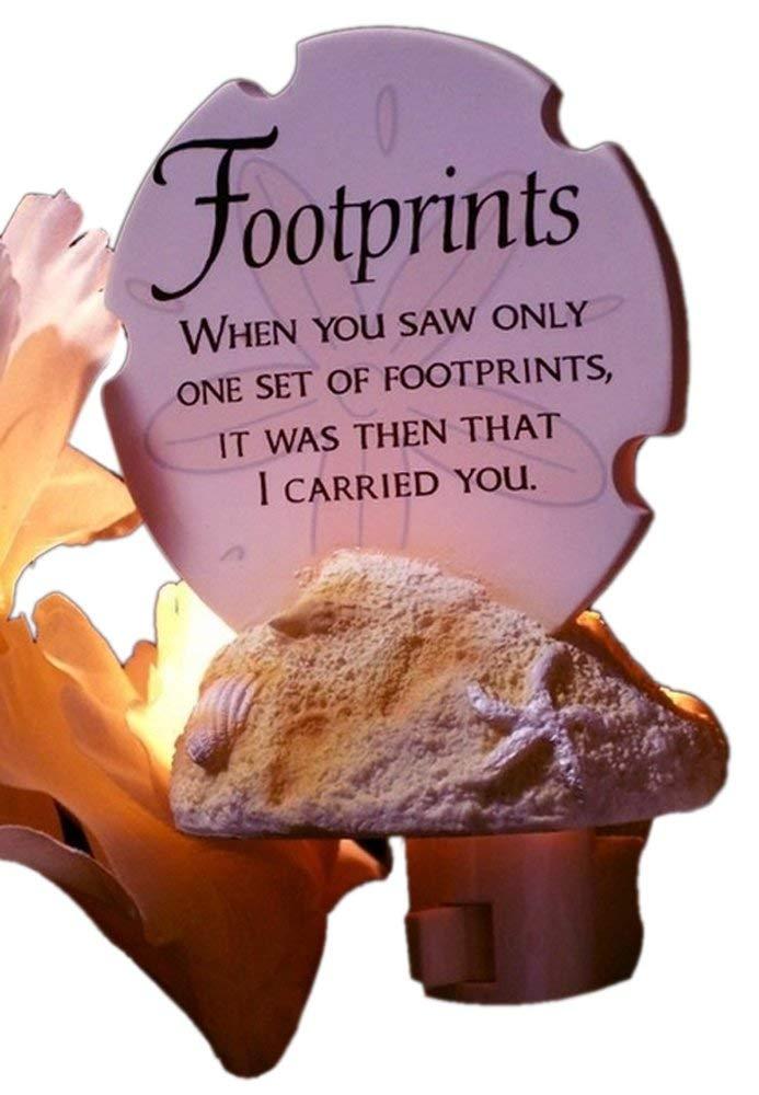 Iwgac Footprints in the Sand Poem Night Light Gift