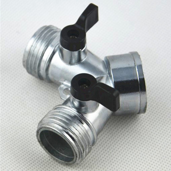 "solid brass 1/2"" 5/8"" 3/4"" 1"" barb end 100% leaking test 3/4"" zinc coupling with valve"