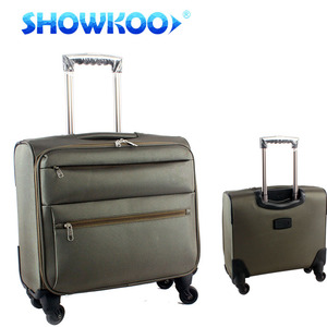 2018 Nylon 360 Degree Wheels Business Airport Carry On Boarding Trolley Suitcase Bag