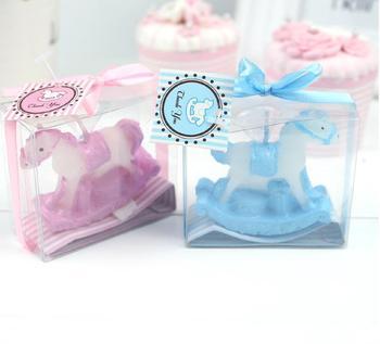 Pink Blue Kids Birthday Party Baptism Souvenirs Present Return Gift Boy Baby Shower Favor Rocking Horse