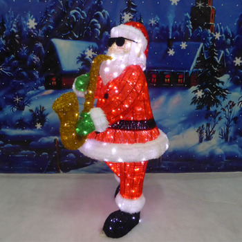 outdoor lighted wire christmas santa for plaza decoration - Lighted Wire Christmas Decorations