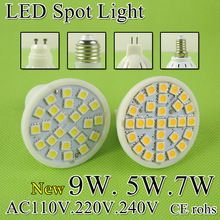 A++Bright MR16 LED Lamp LED Spotlight 5W 7W Bombillas E27 E14 GU10 GU5.3 Spot light Lampada LED Bulb E27 110V 220V Lampara