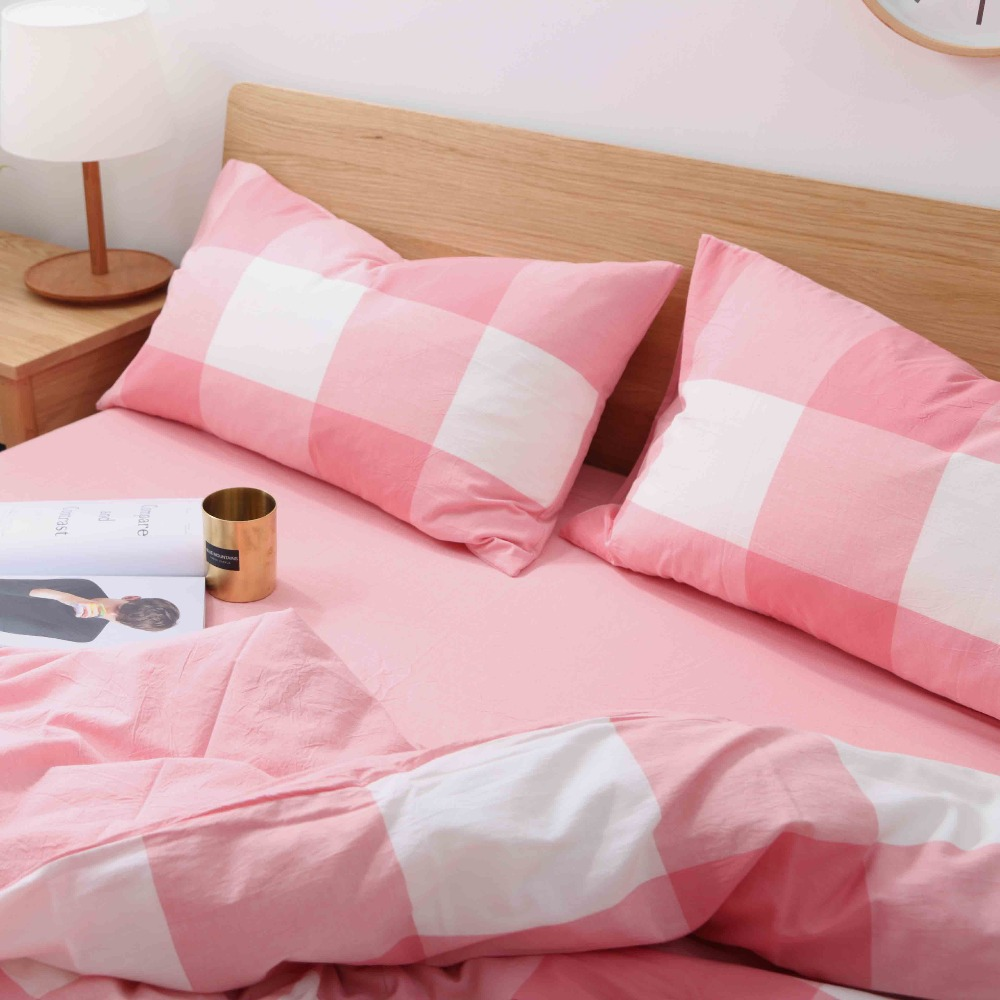 washed cotton yarn dyed stripe home bedding with low moq