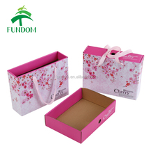 full color printing cute fancy matte children clothes and baby shoes packaging box wholesale drawer gift carton box for packing