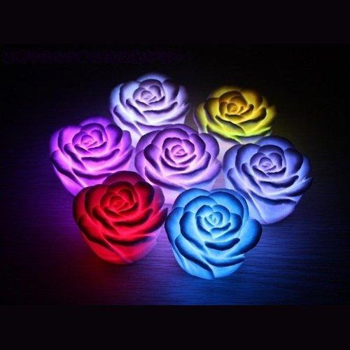 LED Changing Color Floating Rose Flower Light