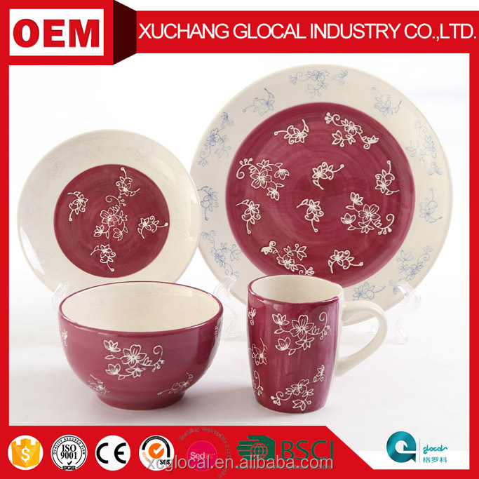 New Hot Selling Products Buy Bulk Dinnerware Sets Hand Painted Restaurant Ceramic Plates Dishes Cheap Ceramic Coffee Mugs