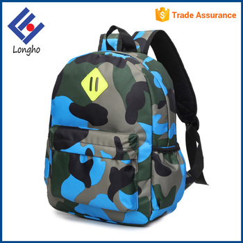China Factory Personalized Book Bags For Kids Light Weight Camouflage New Fashionable School Wholesale