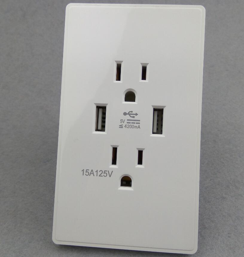 High Quality America Canada wall outlets electric socket modern usb wall power socket