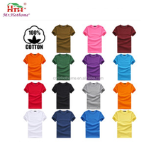 High quality custom blank 100 combed cotton t shirts for silk screen printing