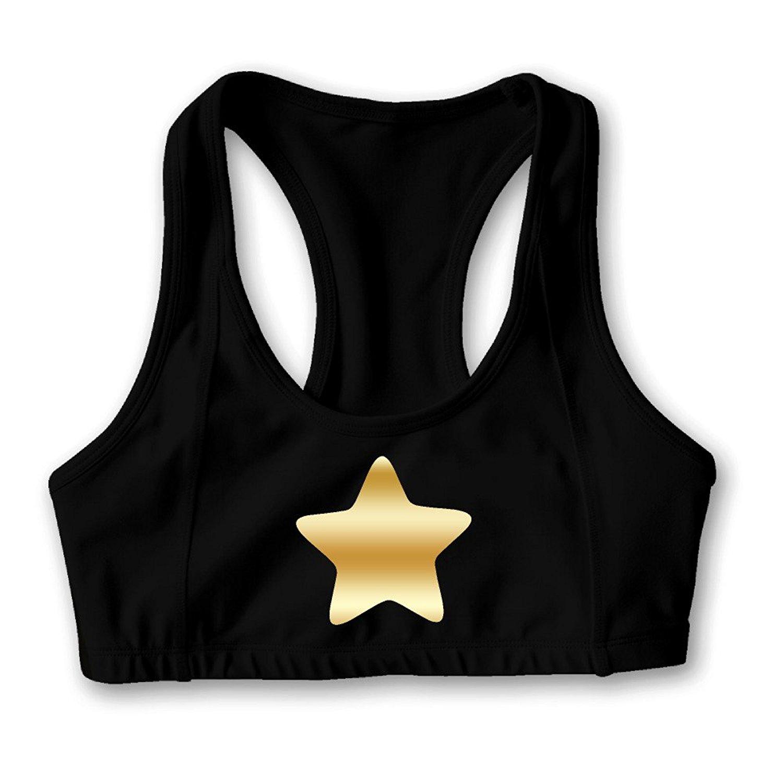 Steven Universe Yellow Star Gold Logo Women's Oxjwn Yoga Sports Bra