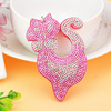 Metal Crystal Cat Key Ring Unisex Car Keychain Women Charms HandBag Pendant Key chains Jewelry