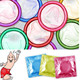 Colourful Condoms China Supplier provide plain dotted ribbed condoms