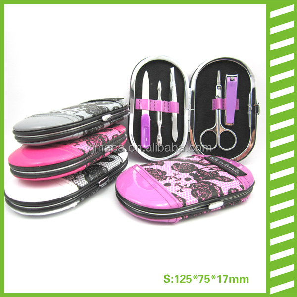 hot sale fancy and small makeup manicure set in purple
