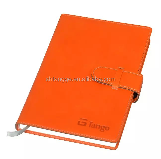 PU leather filofax diary with eco-friendly cream paper