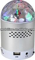 2014 new fashion FM radio with TF/USD Spinning LED stage disco light radio