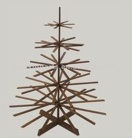 display wooden christmas tree