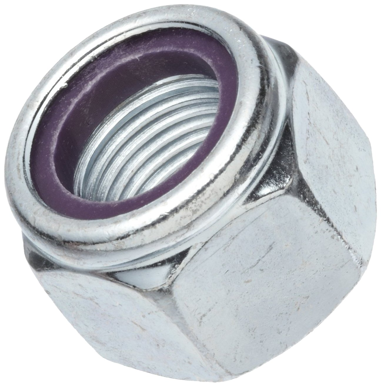 Self-Locking Nylon Insert Pack of 100 #4-40 Threads Zinc Plated Finish Right Hand Threads 0.268 Width Across Flats Grade 2 Steel Machine Screw Hex Nut
