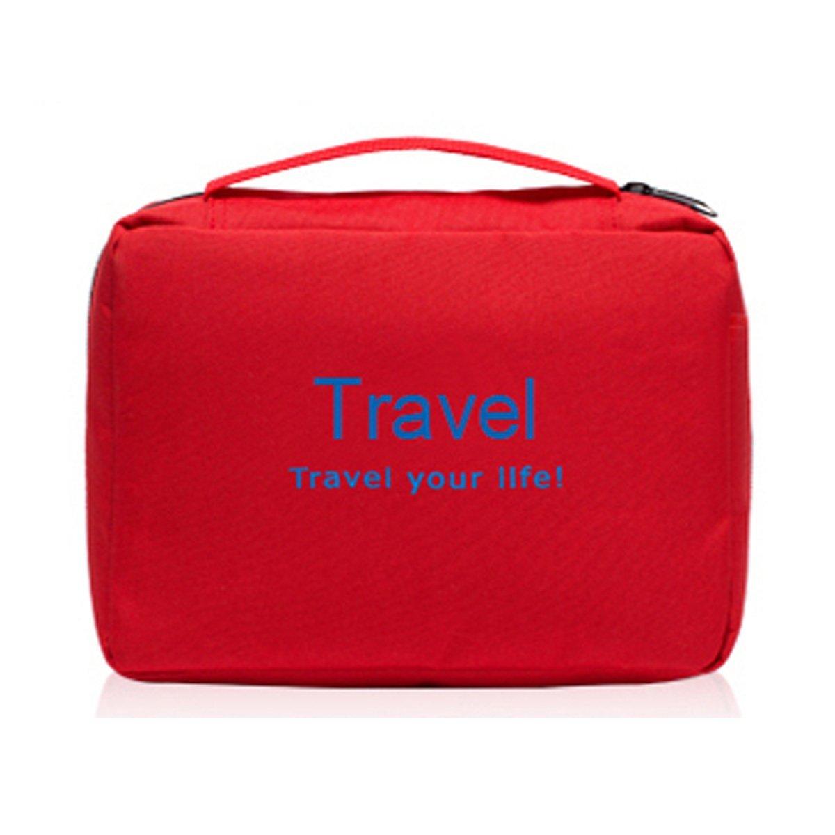 Get Quotations · LOVE US Portable Toiletry Bag Wash Bag Bathroom Hanging  Bag Travel Bag Zipper Storage Bag Drawer 5ee55523201f9