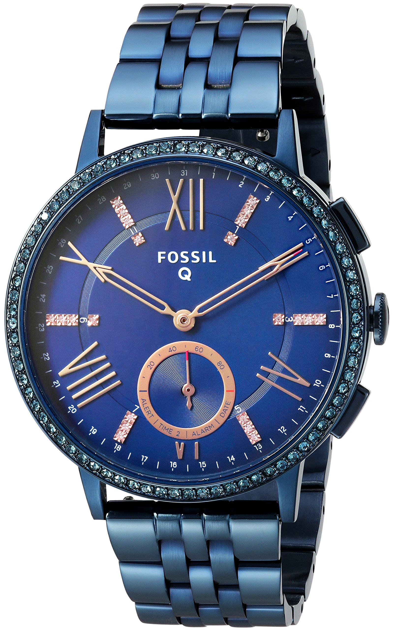 Cheap Fossil Blue Steel Find Deals On Line At Es3590 Stella Multifunction Rose Tone Stainless Watch Get Quotations Hybrid Smartwatch Q Gazer Navy