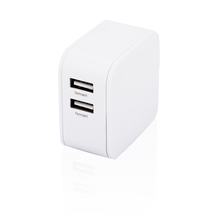 Portable universal dual port travel wall micro USB cell phone charger with OEM ODM service