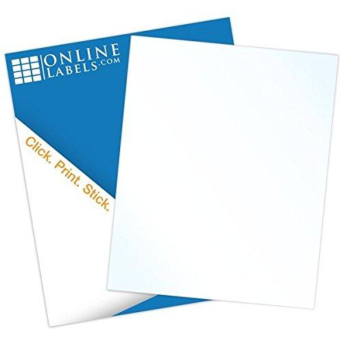 "Gloss Sticker Paper (100 Sheets), Blank Glossy Full Sheet Label - INKJET ONLY - 8.5"" X 11""- Online Labels"