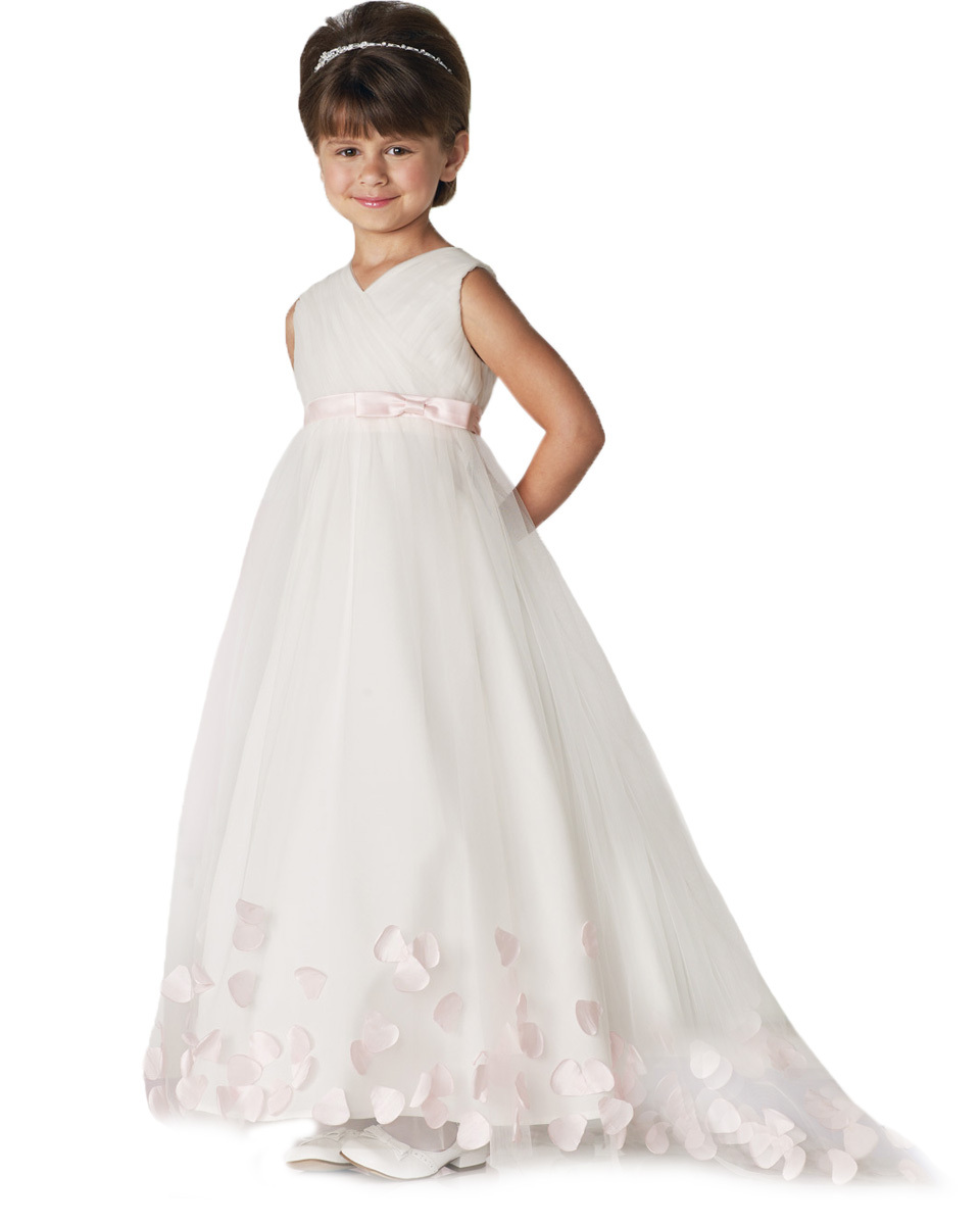 Buy tulle flower girl princess dress with pink sash beautiful tulle buy tulle flower girl princess dress with pink sash beautiful tulle ivory flower girl dresses for weddings first community dress in cheap price on izmirmasajfo