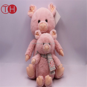 Taihua Toys factory direct sale cute cartoon toy plush pink pig for baby