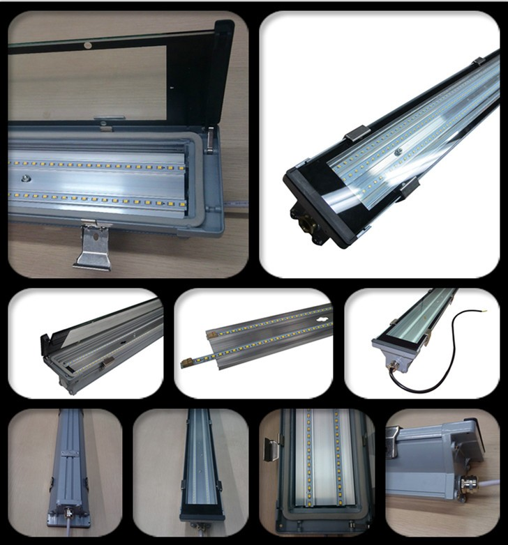 Corpo in alluminio obiettivo di vetro esterno sensore 4ft 5ft 40 w 50 w 60 w tunnel vapor stretto apparecchio tri-prova ha condotto la luce impermeabile