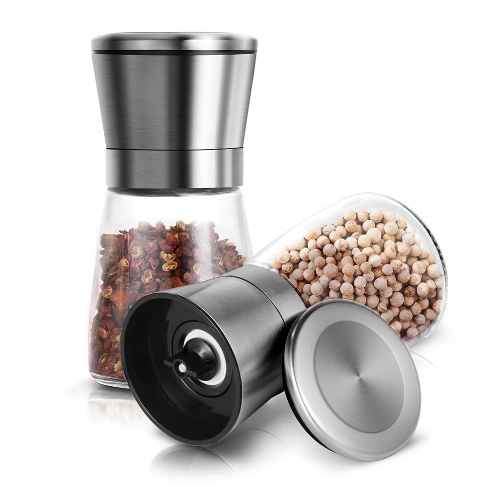 WB PGS13565 Aanpasbare boxed gift spice mills rvs plastic zout en peper shaker grinder