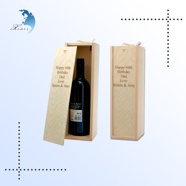 Eco-friendly brushed fashion top brand timber wooden wine box