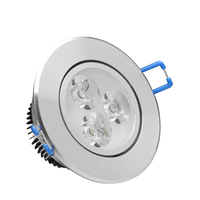 cheap price round smd recessed led downlight 3w adjustable 3x1w
