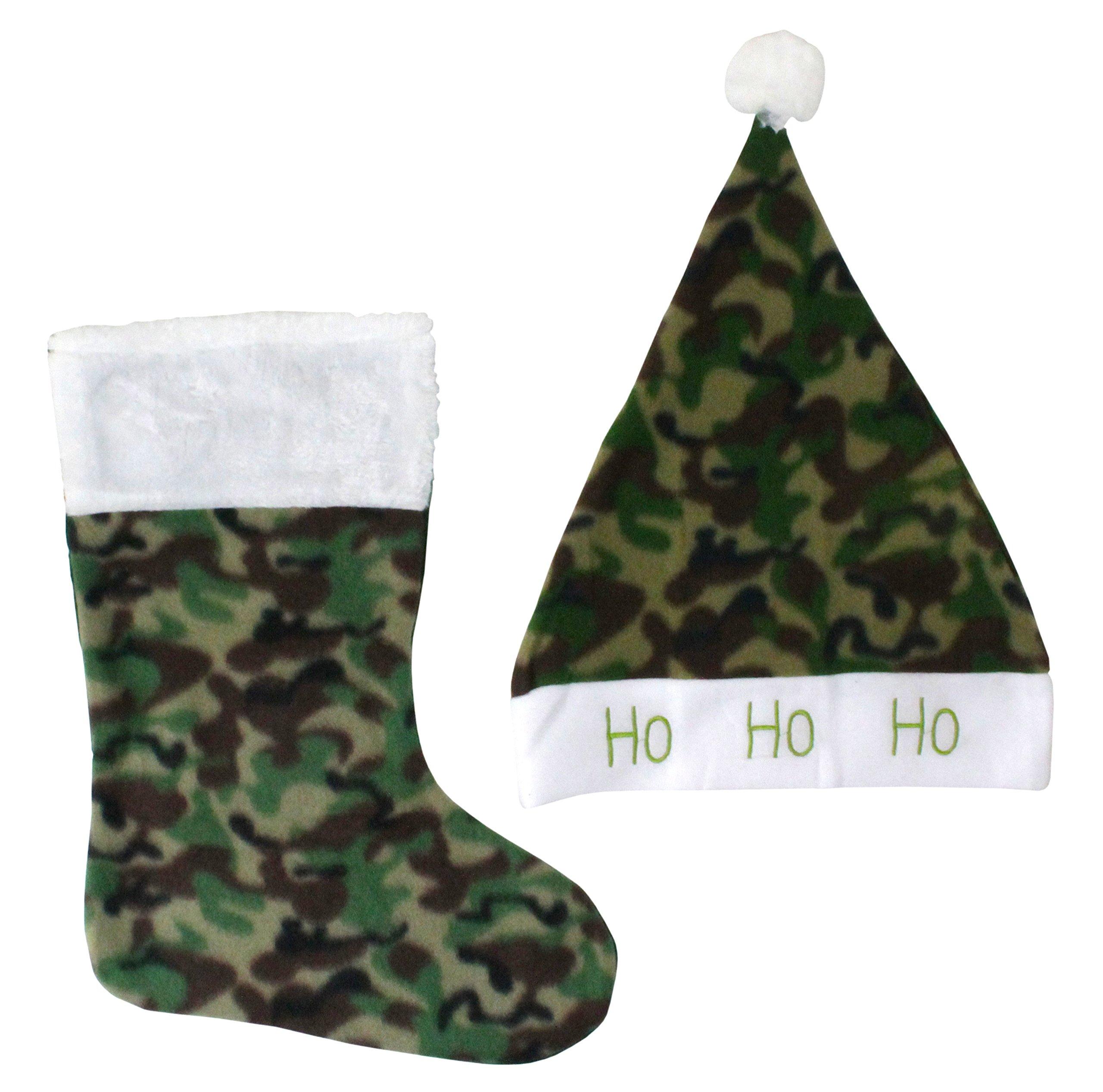 get quotations good old values santa hat stocking set camo - Camo Christmas Stocking