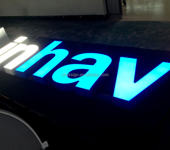 Custom Front Lit Signage Acrylic Led Letter Sign Beautiful Electronic Outdoor Letters In Signs 3m Film Lights Luminous