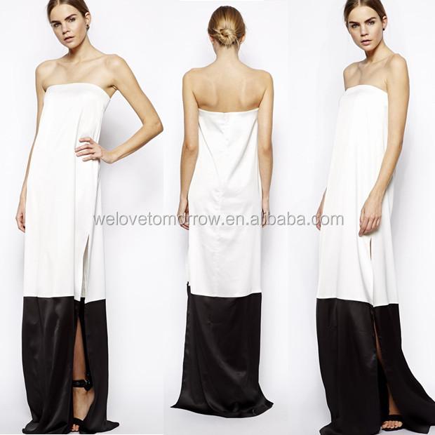 Witte lange jurk mango