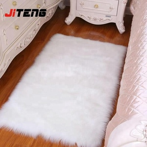 White sheepskin plush fur rugs faux fur rug
