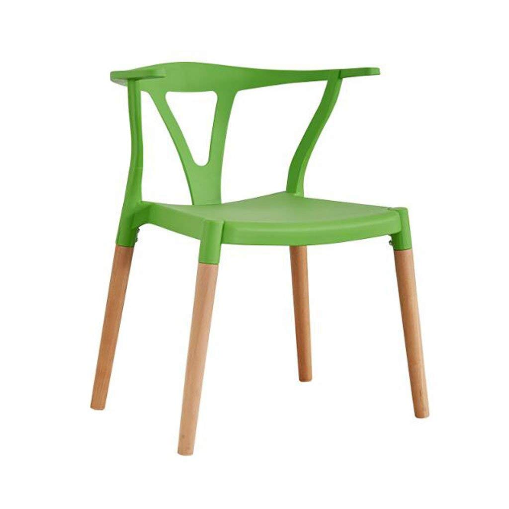 LQQFF Fashion Dining Chair, Wood Backrest Chair Business Talk Chair Cafe Chair - Dining Chair (Color : C)