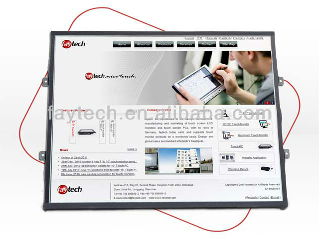 19 inch open frame touch screen pc