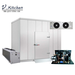 Energy saving fresh vegetable cooling Split condensing for yogurt Polyurethane insulation foaming modular cold room