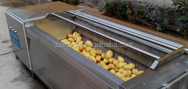 Custom big production 1.5kw potato peeling machine/potato washing machine with after sales services