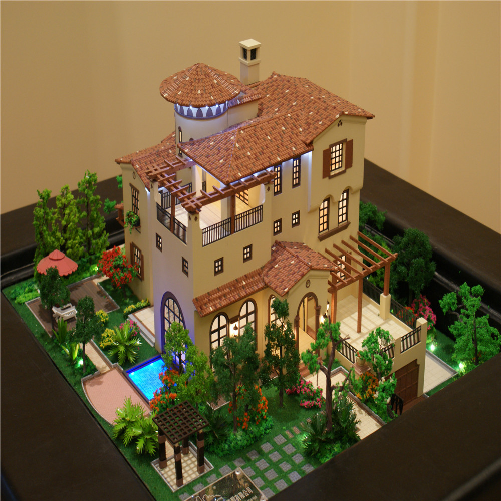 Model miniature house real estate property for sale villa for Best material to build a house