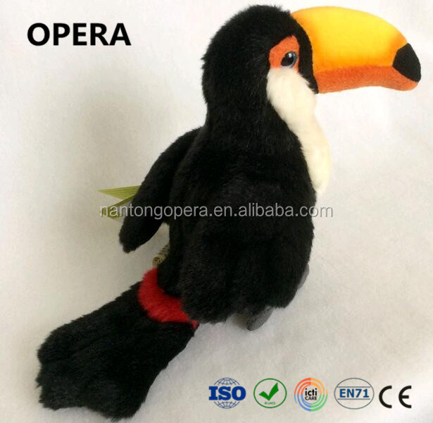 novelty safe short fabric soft toucan plush toy manufacturer