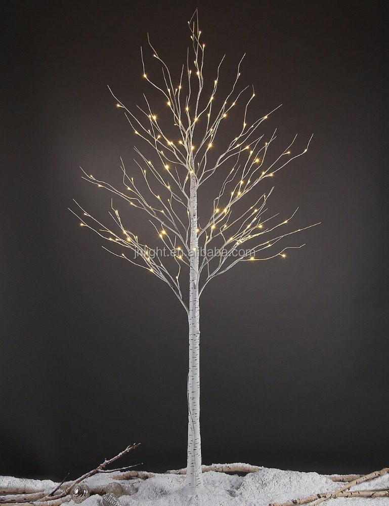 New 8ft 132l Led Birch Tree Home Festival Party Christmas