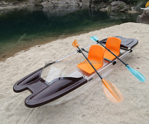 PC material crystal boat sit on top glass bottom transparent kayak uk