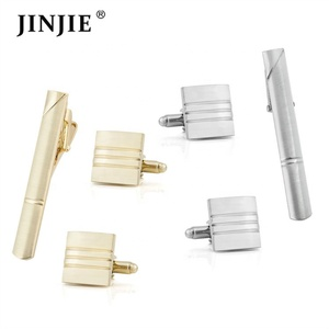 Wholesale Top Quality Tie Clip Cufflinks Set And Tie Pin Cuff links Set Or Tie Bar Cuff Link Set