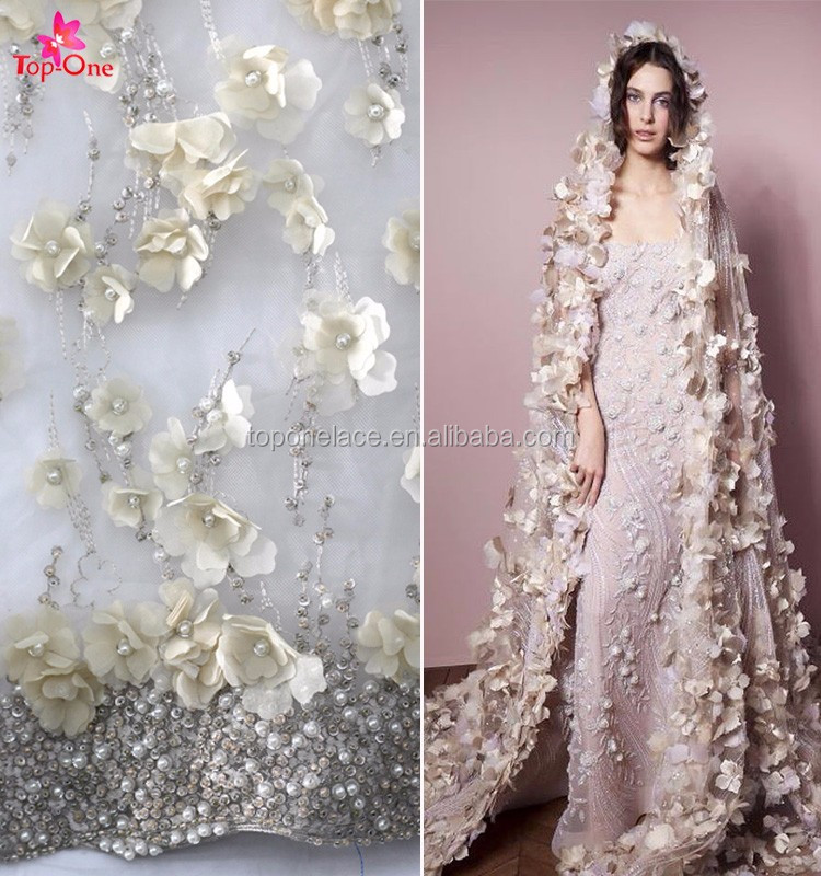 2017 Ivory Wedding Dress Bridal Gown 3d Flower Lace Embroidered ...