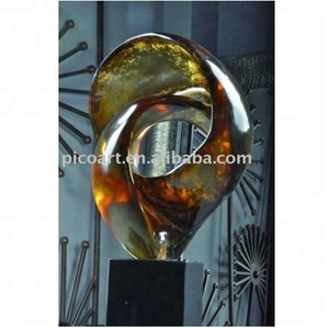 Semi transparent abstract clear resin art home decor