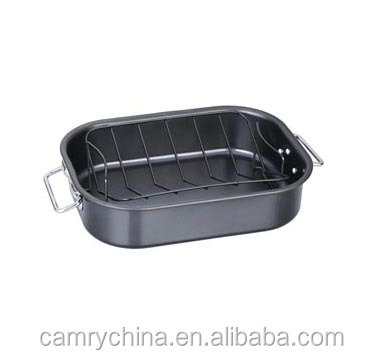 Non-stick carbon steel Roasting pan with rack frying pan,Turkey Roaster