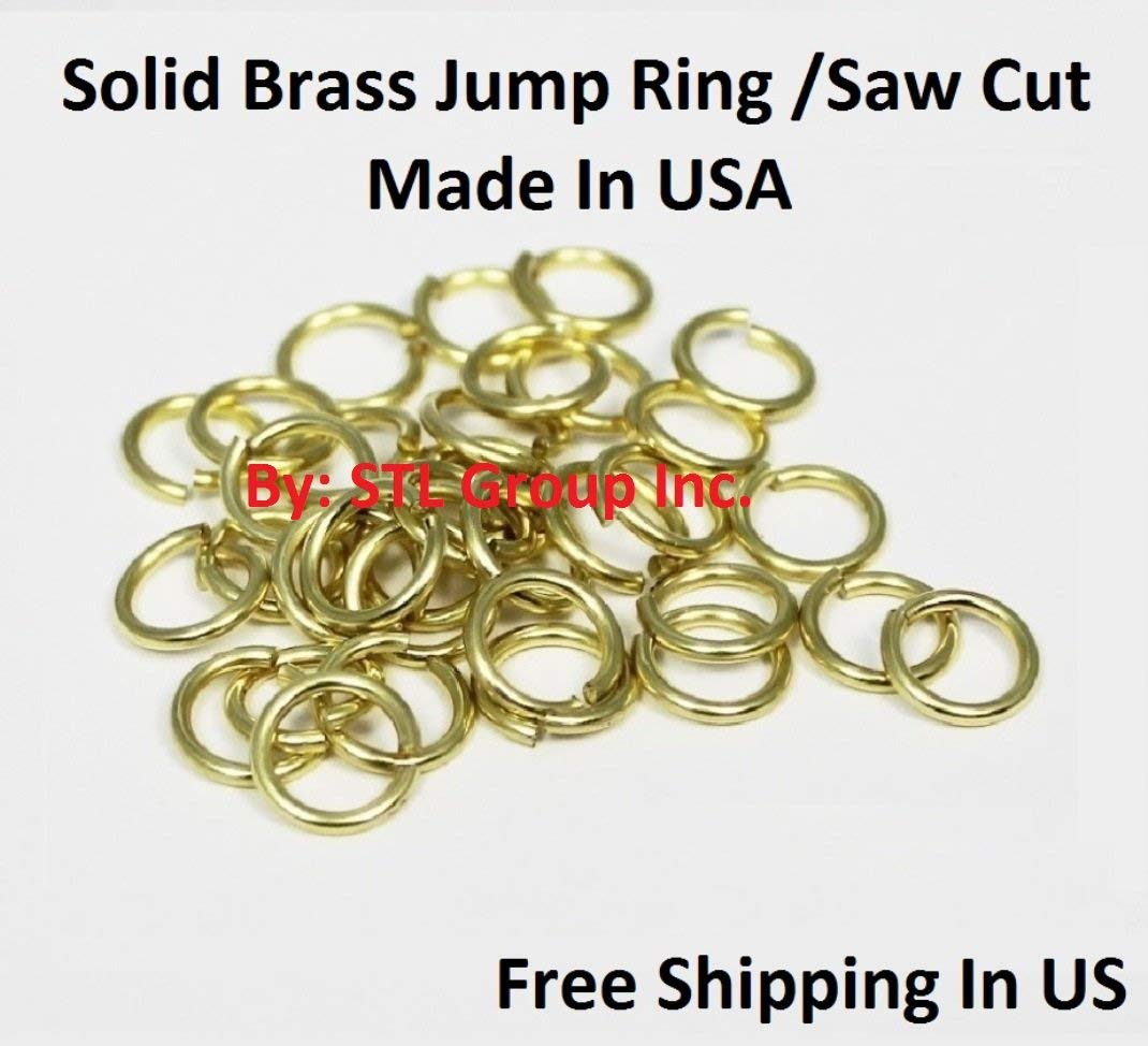 Saw-Cut  Made In USA 1 Oz Pkg 18 Ga Antique Copper  5 MM O//D Jump Ring  350 P